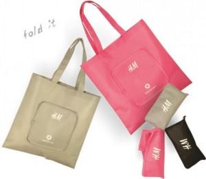 H&M OPVOUWTASJE - Tas bedrukken met logo